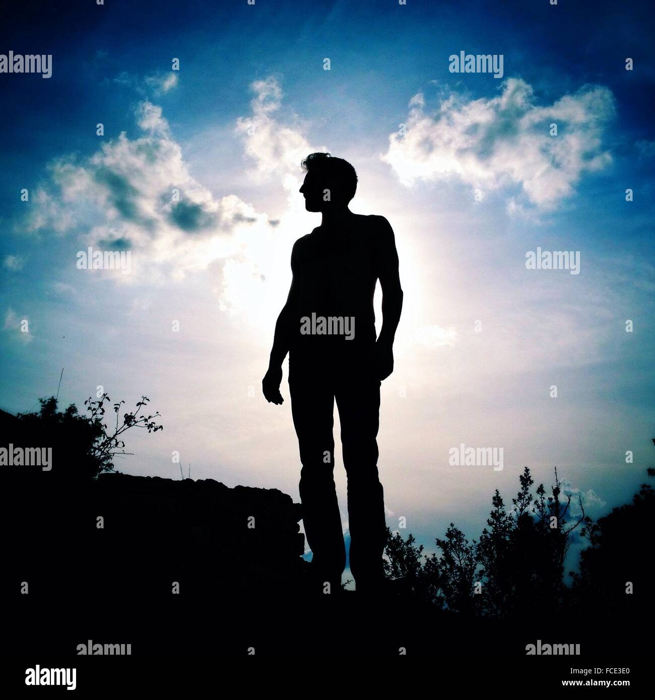 Silhouette Of Man Photo Stock