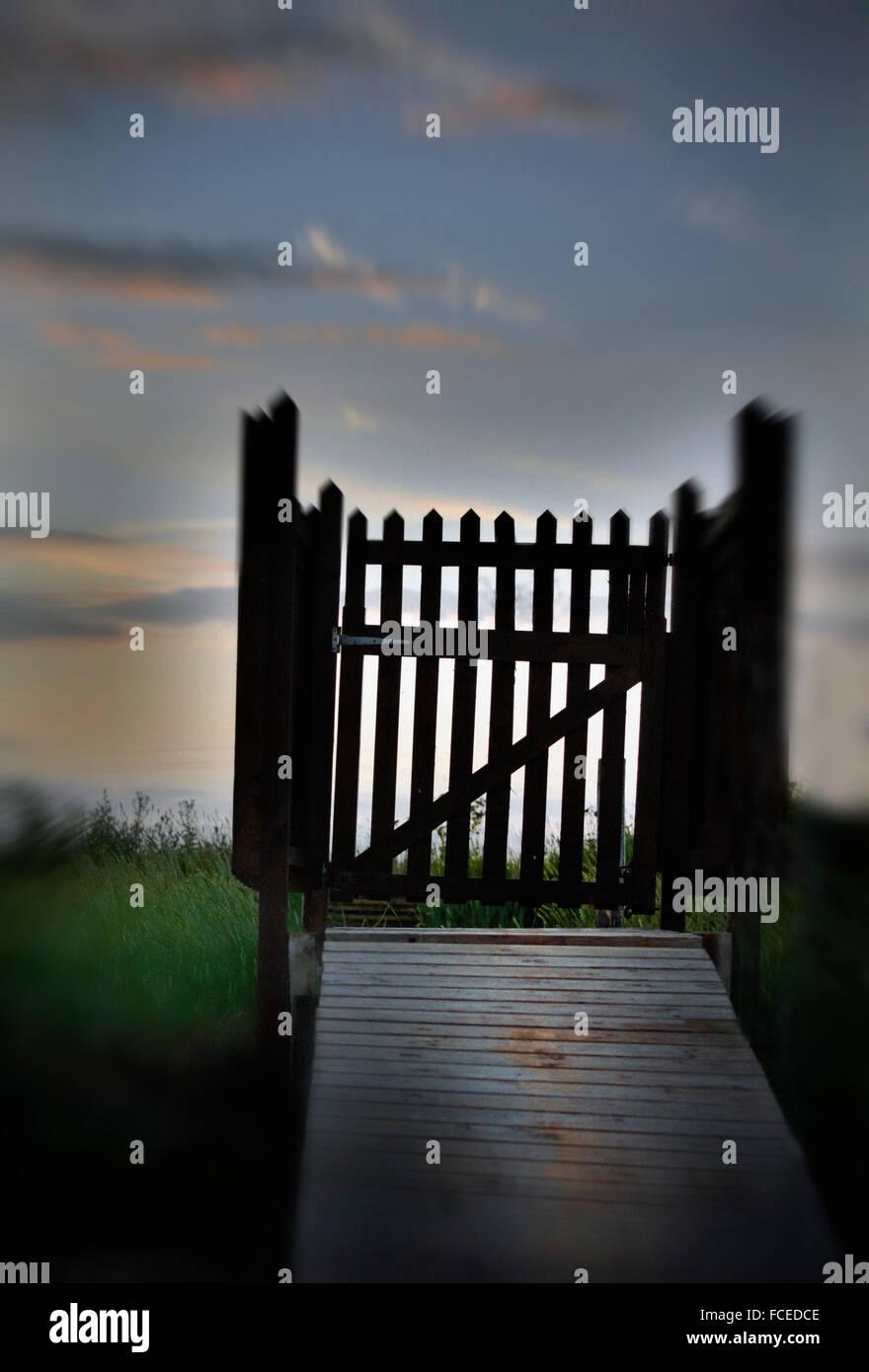 Porte d'entrée en bois Photo Stock