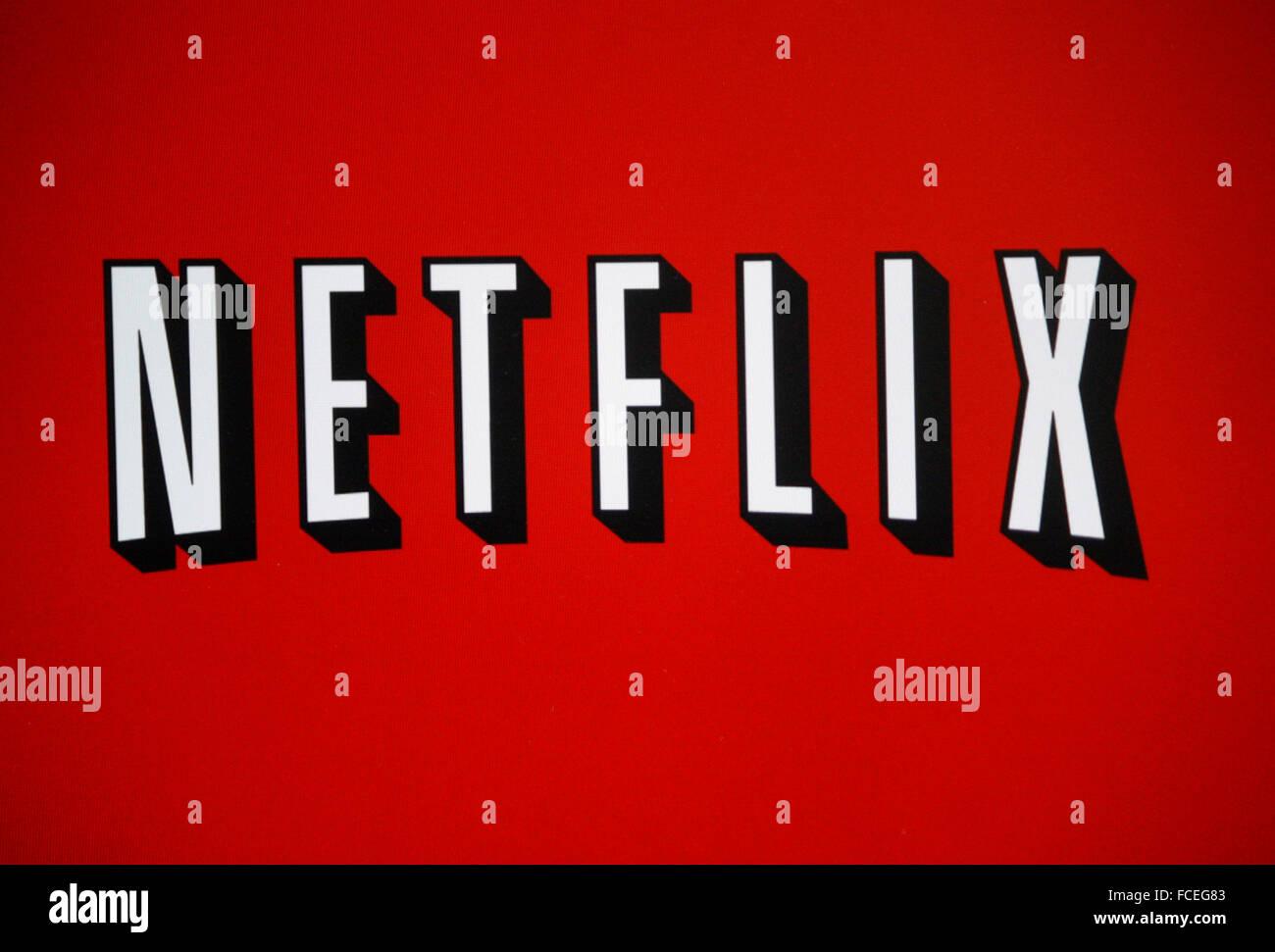 "Markenname: 'Netflix"", Berlin. Photo Stock"