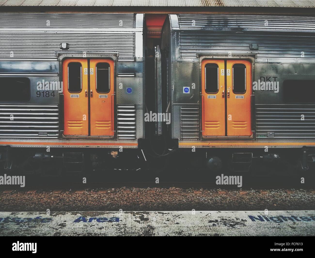 À la Station de Train Photo Stock