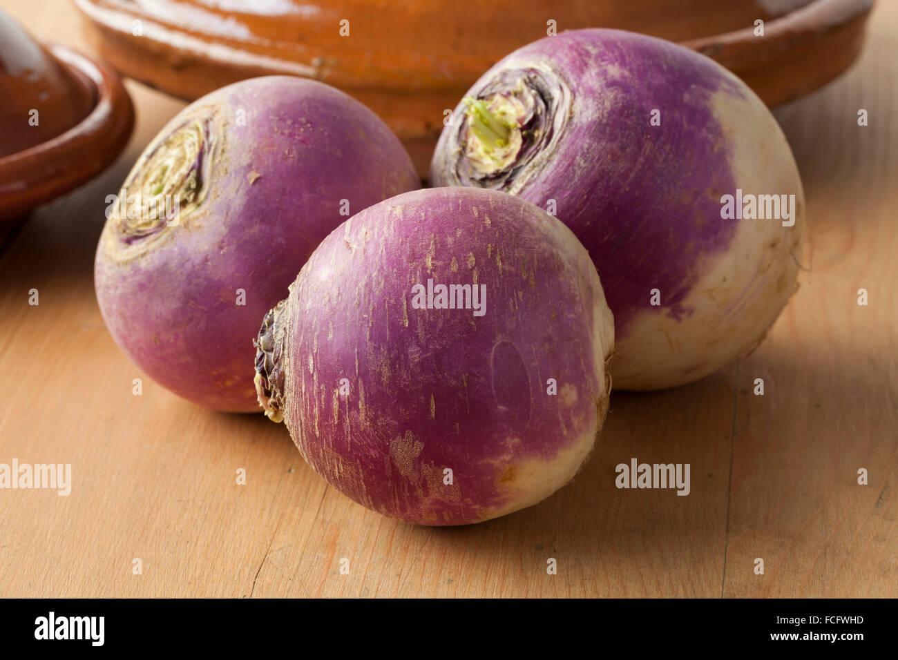 Matières premières fraîches navets blancs Photo Stock