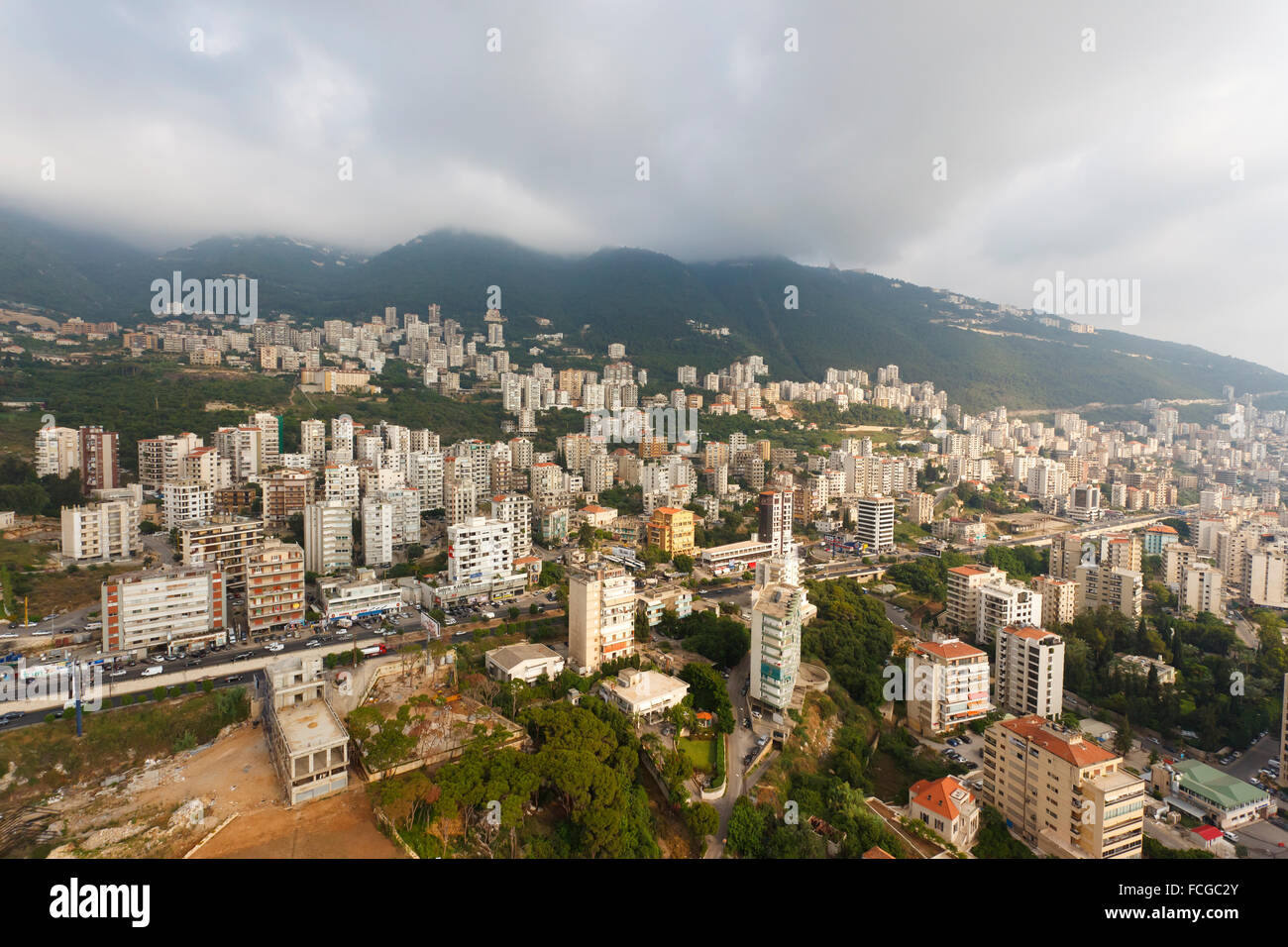 Par antenne, Jounieh, Beyrouth, Liban Photo Stock