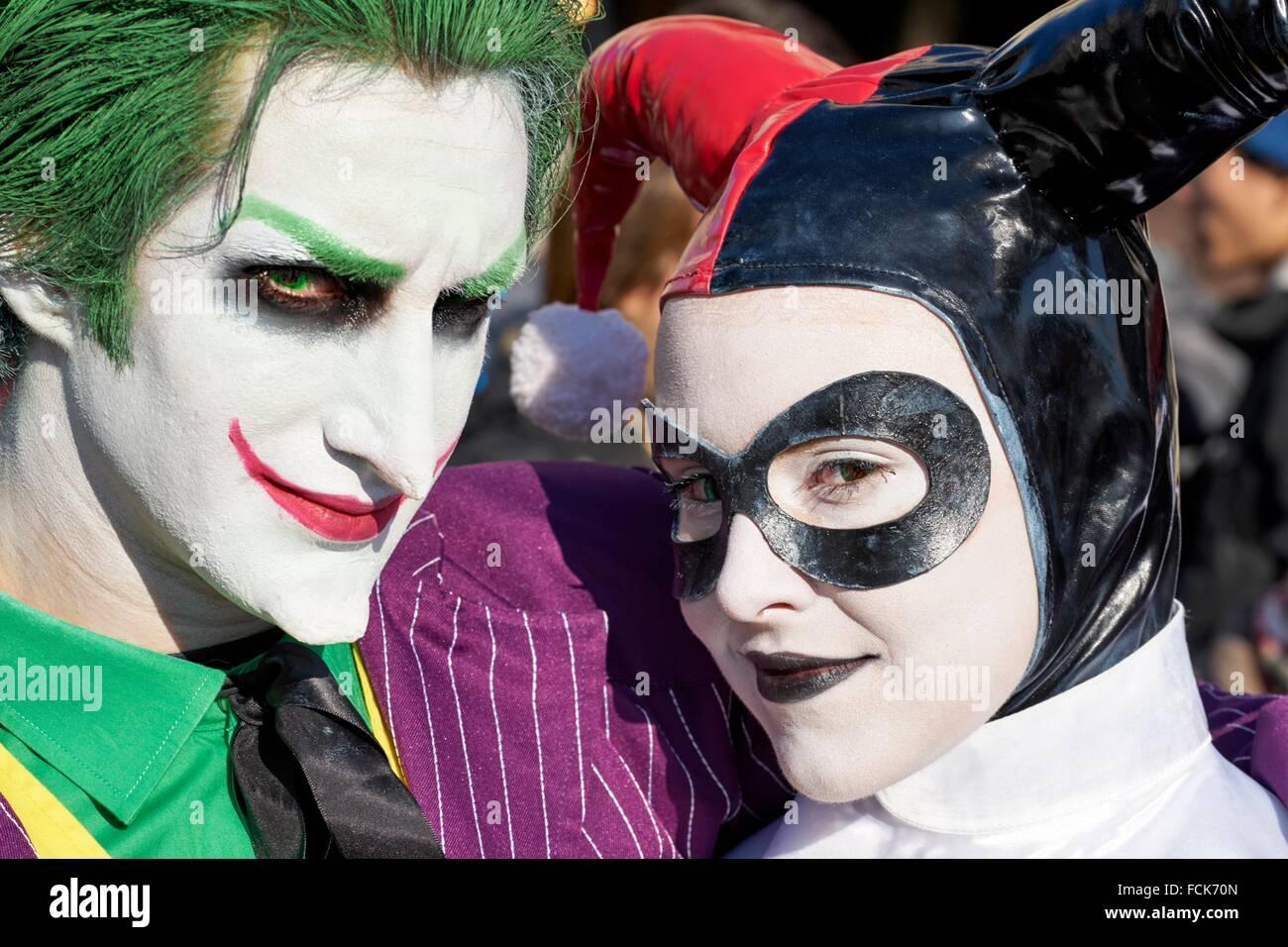 Couple déguisé, Carnaval de Venise, Venise, Italie Photo Stock
