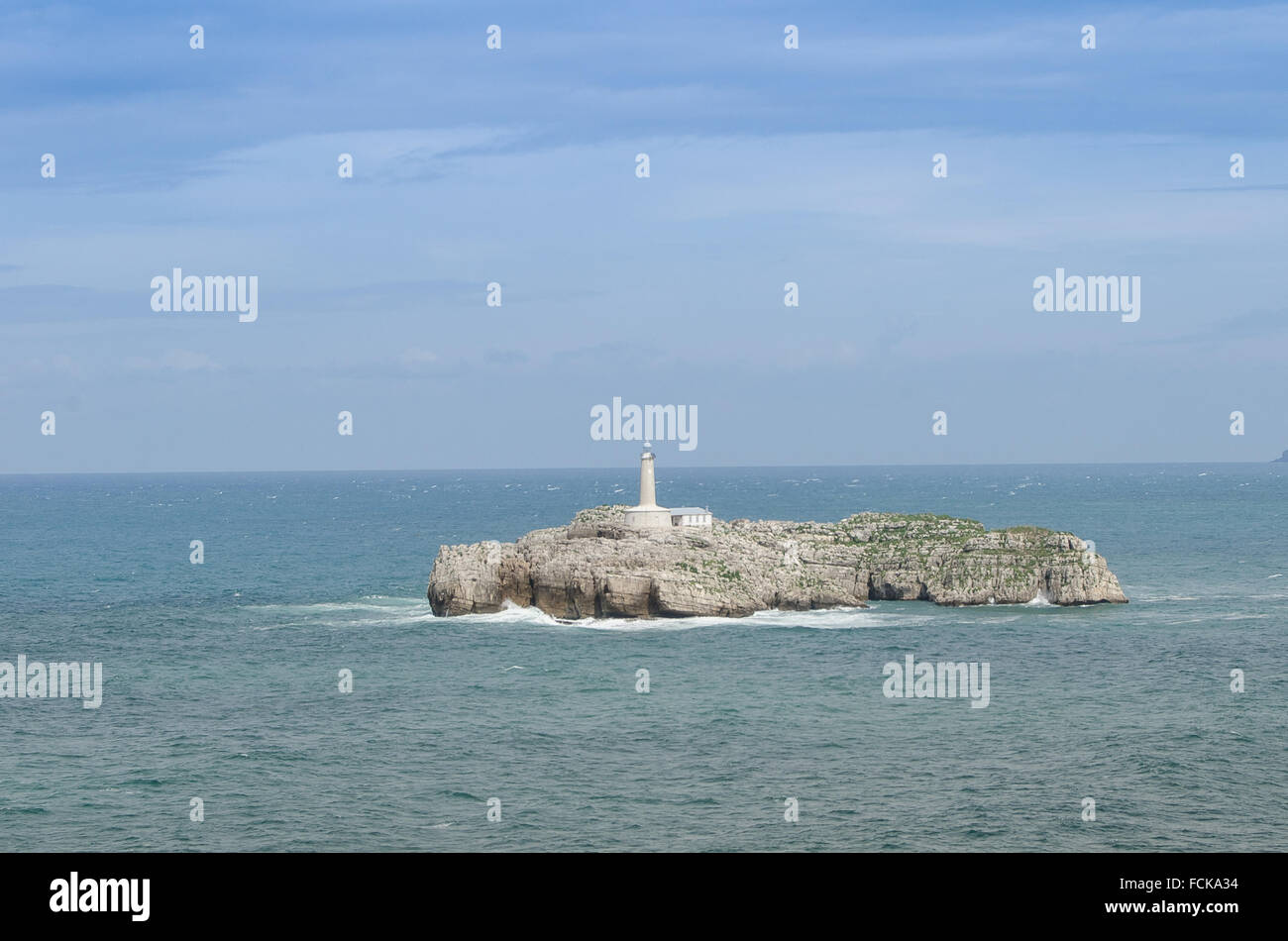 Santander au phare du littoral. Cantabrie Espagne du Nord Photo Stock