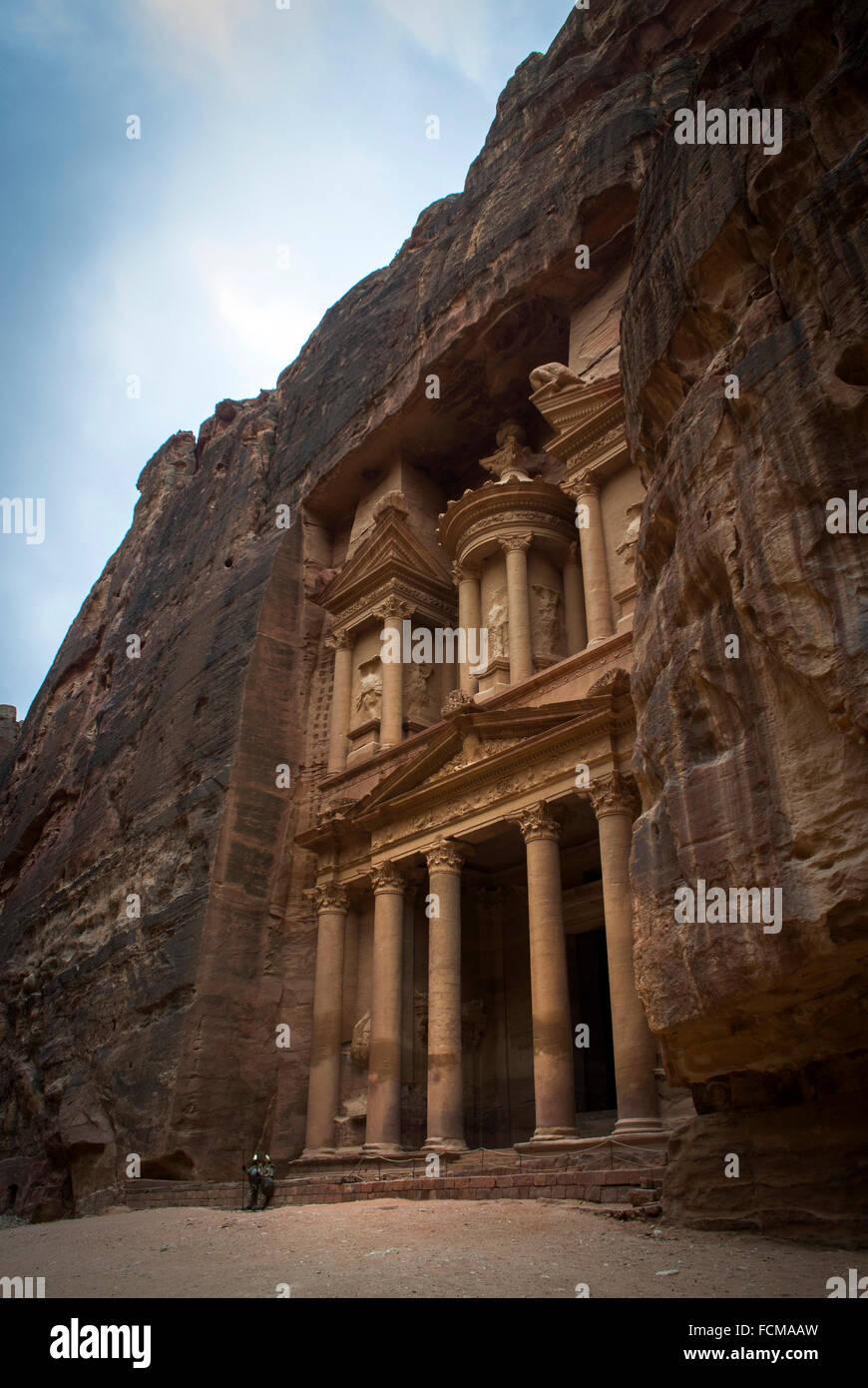 Le Conseil du Trésor à Petra, Jordanie Photo Stock