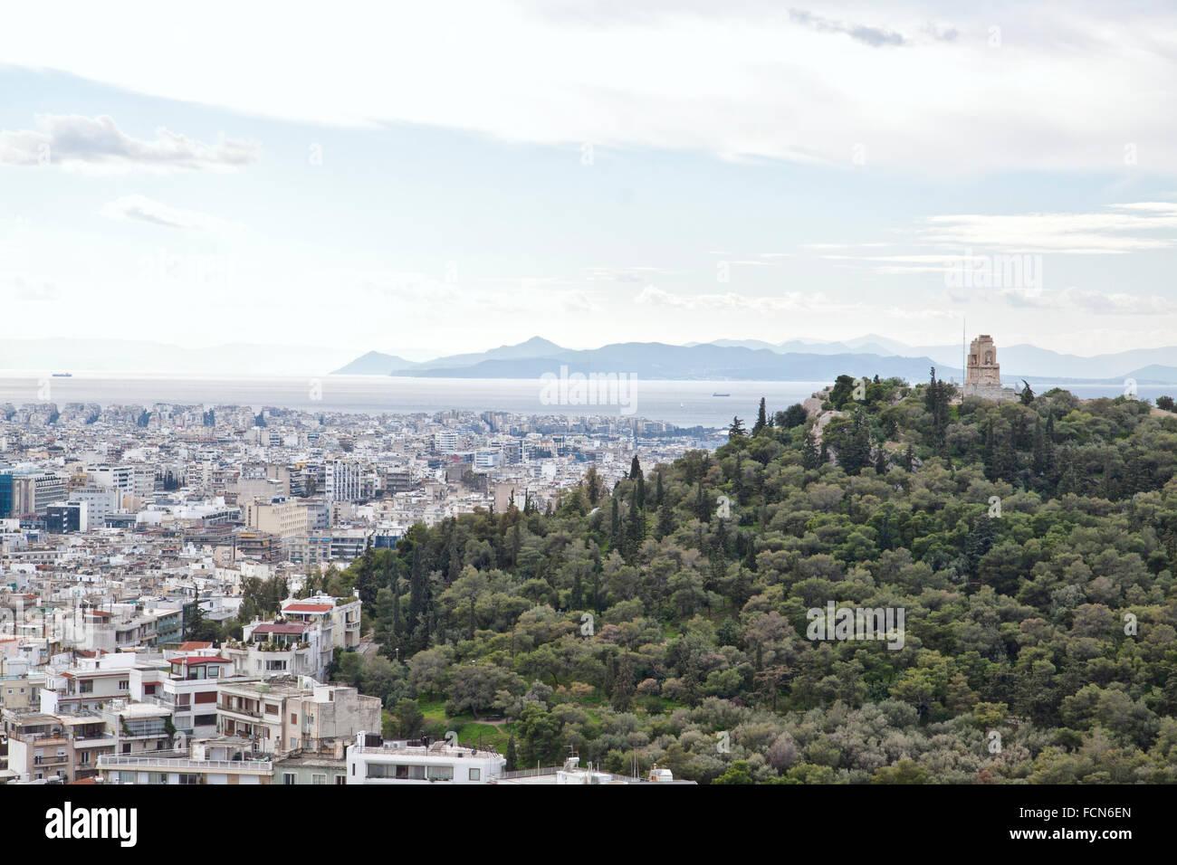 Le Pirée est une ville portuaire de la région de l'attique, Grèce. Banque D'Images