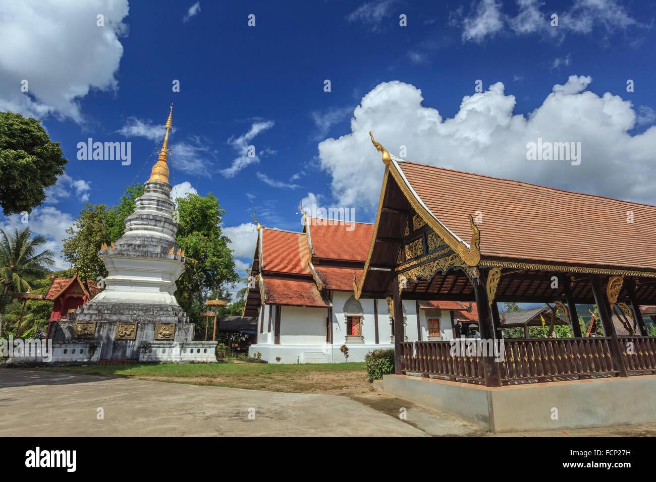 Vieux temple à Chiang Mai province de Thaïlande Photo Stock