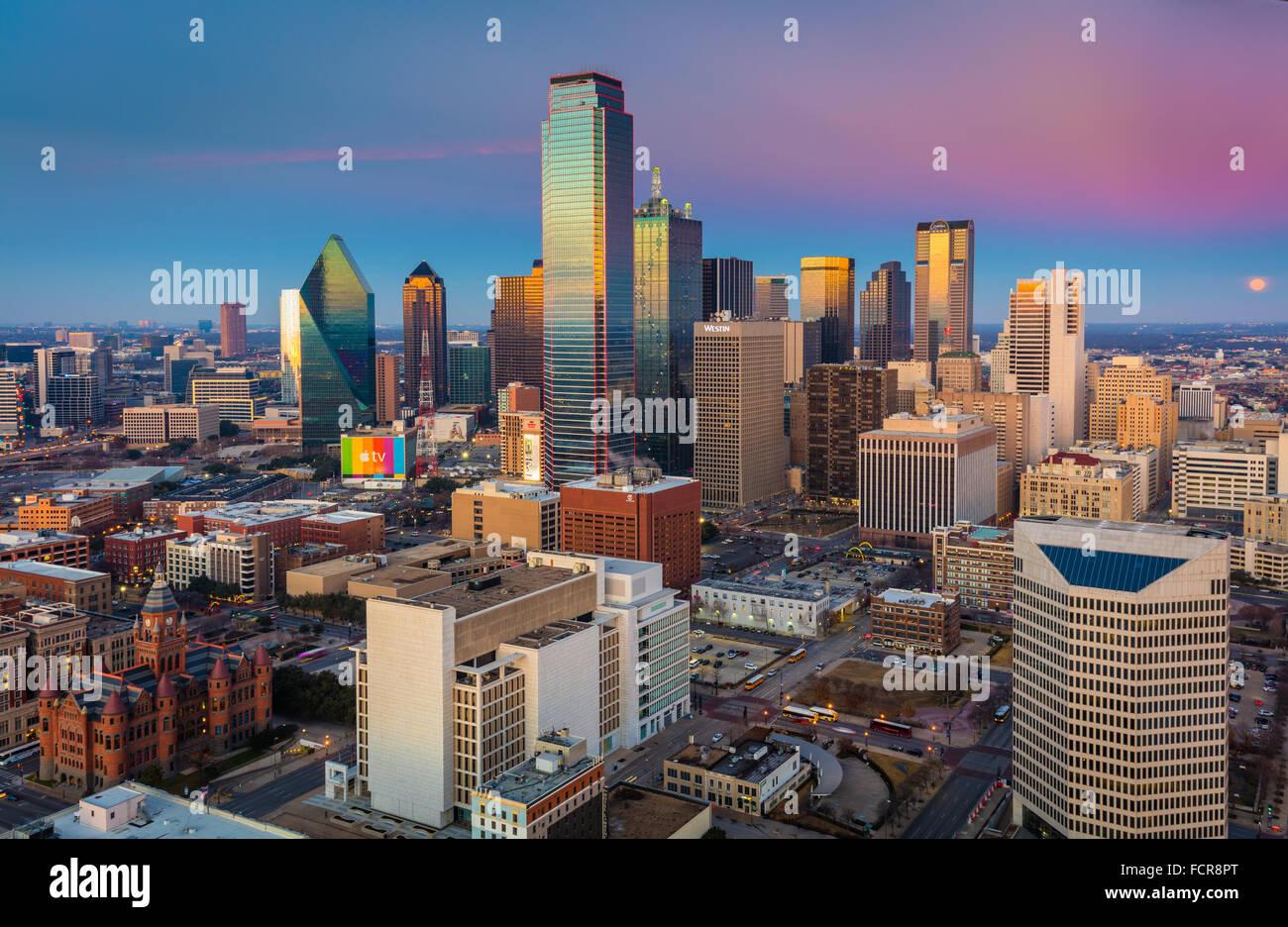 Dallas est la neuvième ville la plus peuplée des États-Unis d'Amérique et la troisième ville la plus peuplée de l'état du Texas. Banque D'Images
