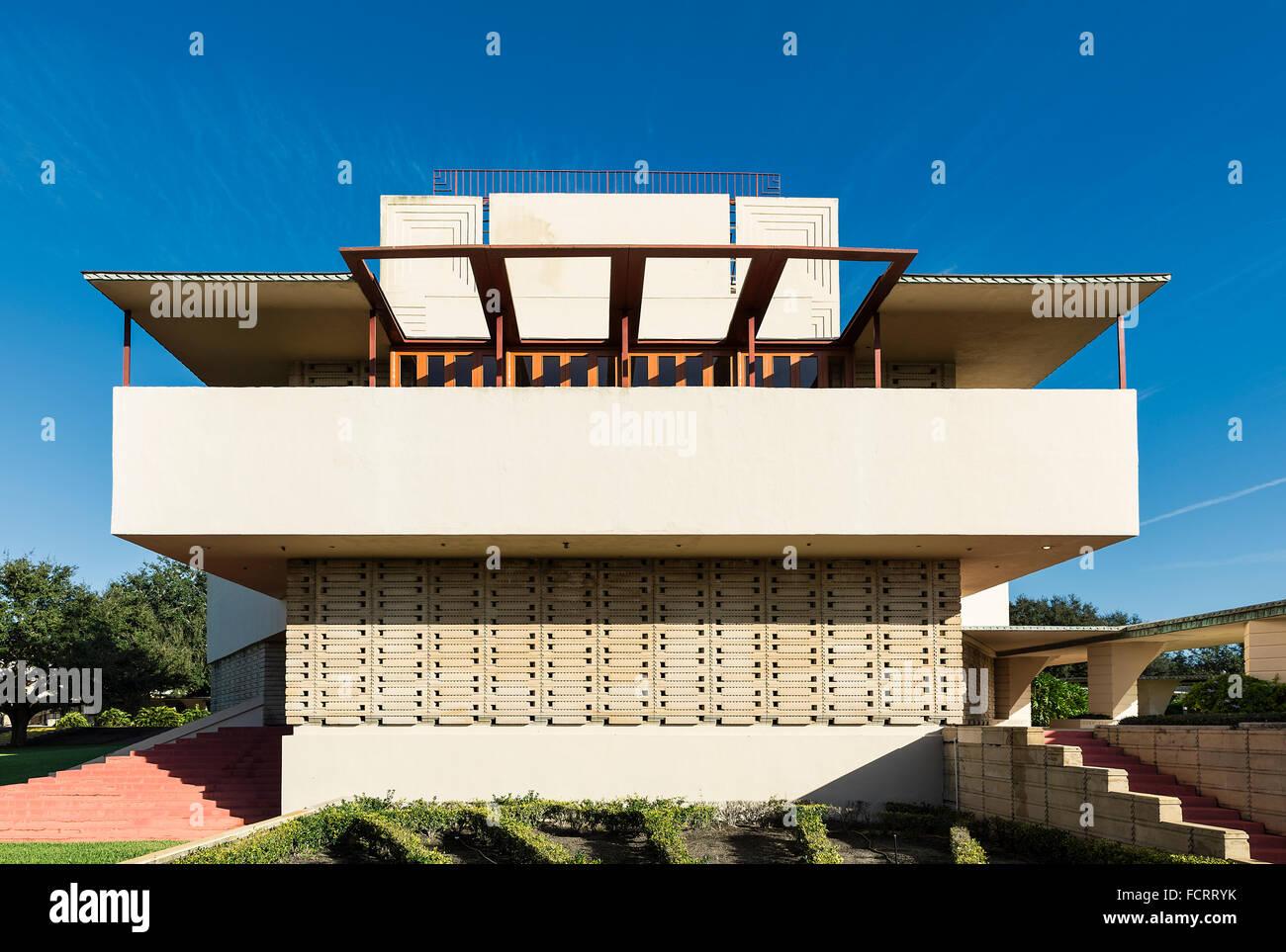 Annie Pfeiffer Chapelle conçu par Frank Loyd Wright pour Florida Southern College, Lakeland, Floride, USA Banque D'Images
