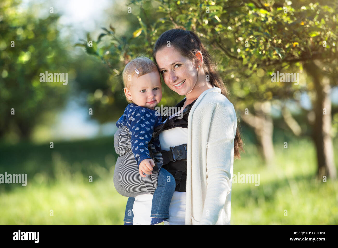 Happy mother and her daughter Photo Stock