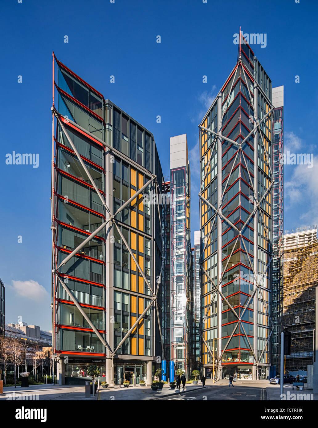 Neo Bankside Apartments conçu par Rogers Stirk Harbour + Partners et sélectionné pour le prix Photo Stock