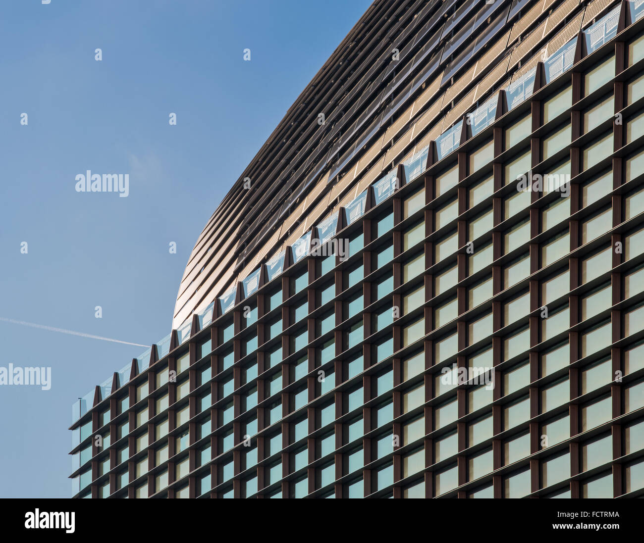 Francis Crick Institute de Midland Road, St Pancras, Londres conçu par les architectes HOK avec PLP Architecture. Photo Stock