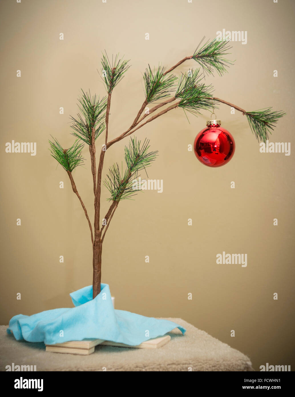 Charlie Brown Christmas Tree Photo Stock
