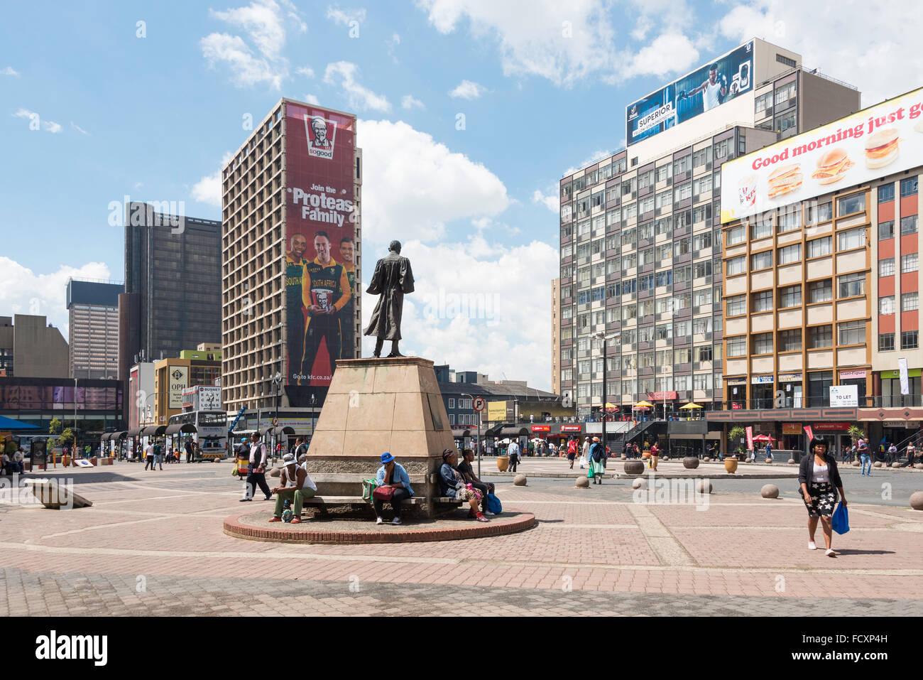 Gandhi Square, Johannesburg, Ville de la municipalité métropolitaine de Johannesburg, la Province de Gauteng, Photo Stock