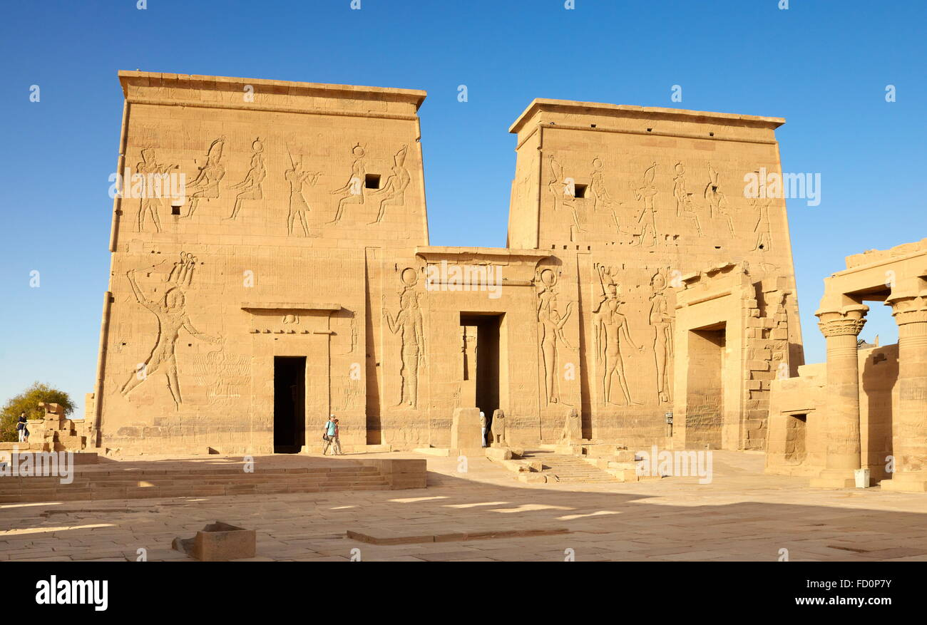 L'Egypte - Edfou, Temple d'Horus Photo Stock