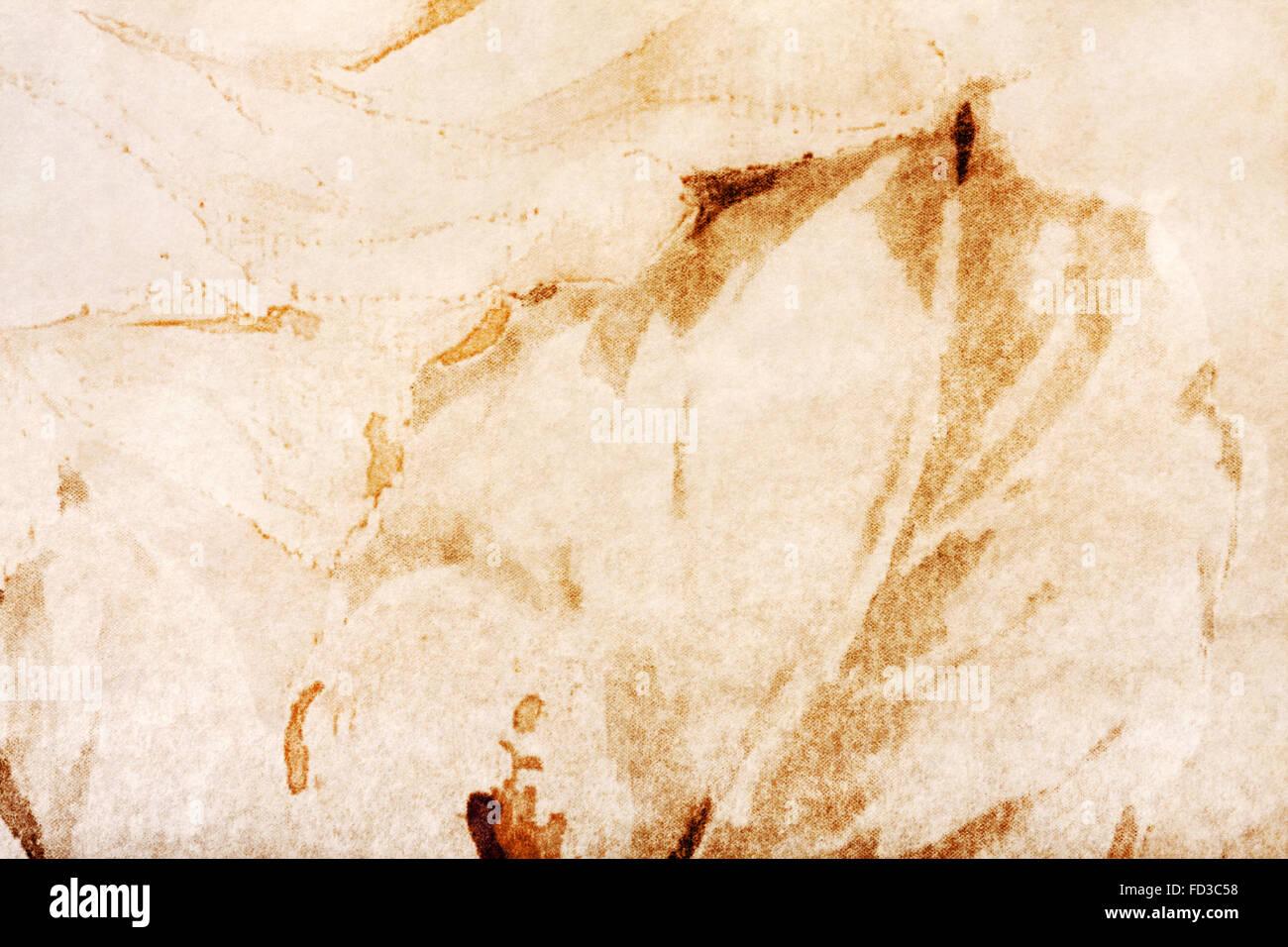 Arrière-plan créatif avec des taches marron et jaune. Grand fond ou de texture pour votre projet. Banque D'Images