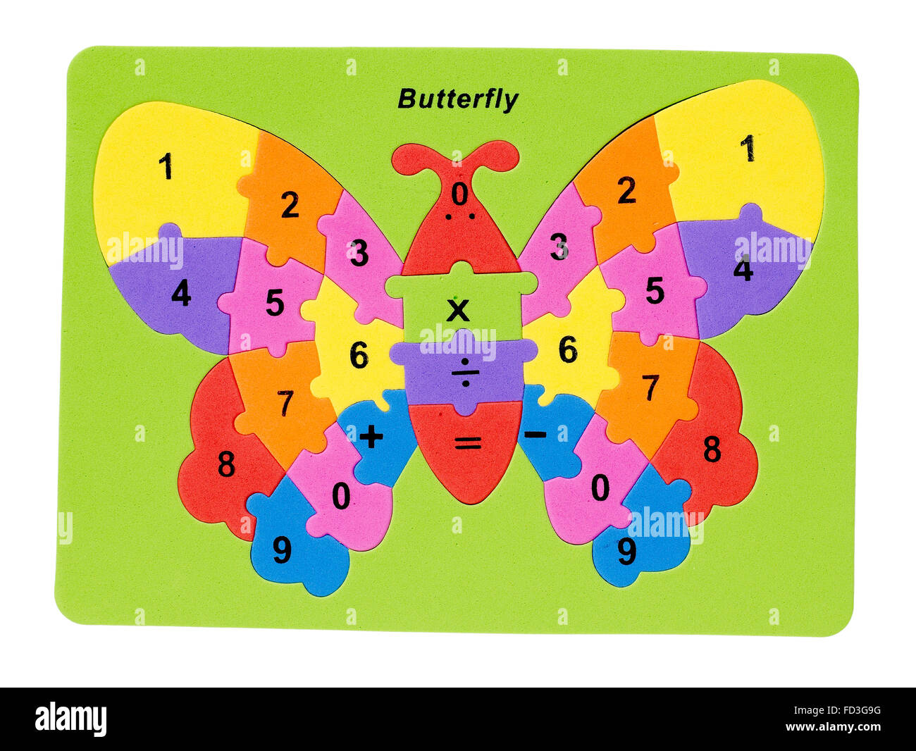 Puzzle papillon Photo Stock