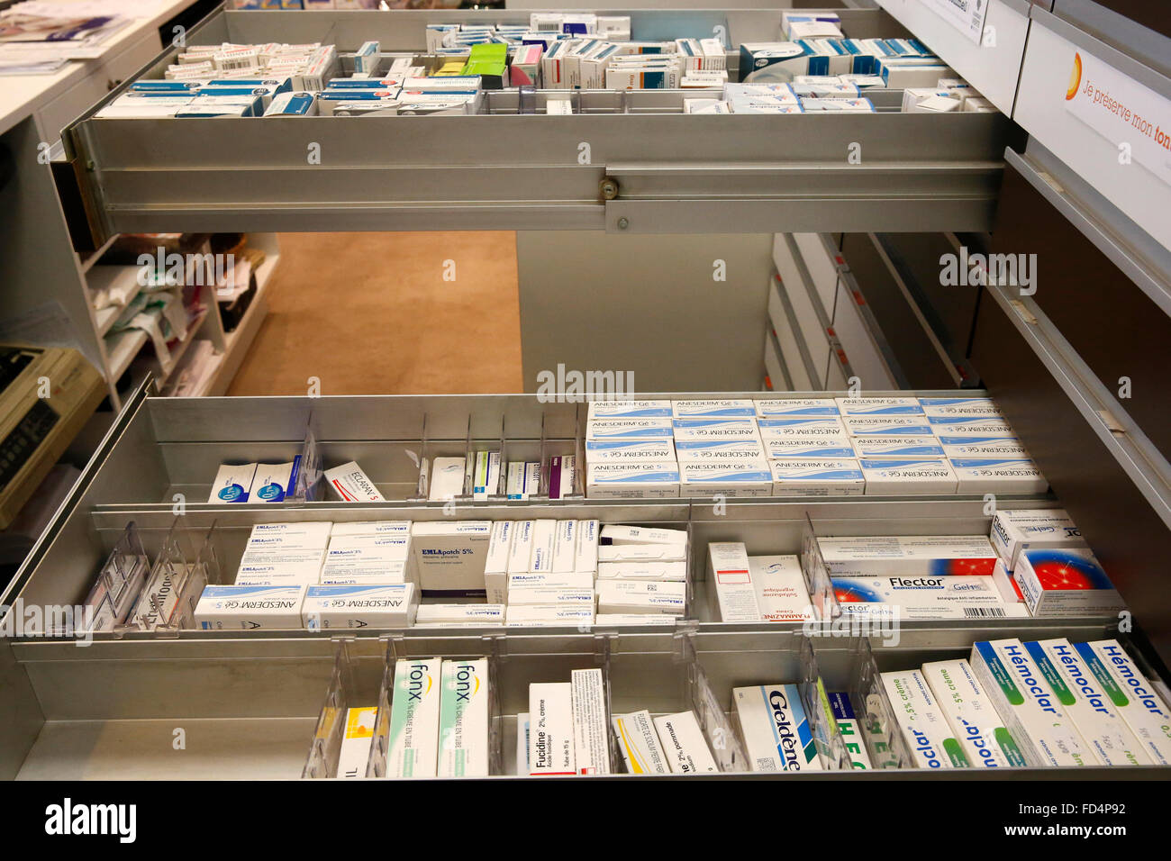 Pharmacie. Les drogues. Photo Stock