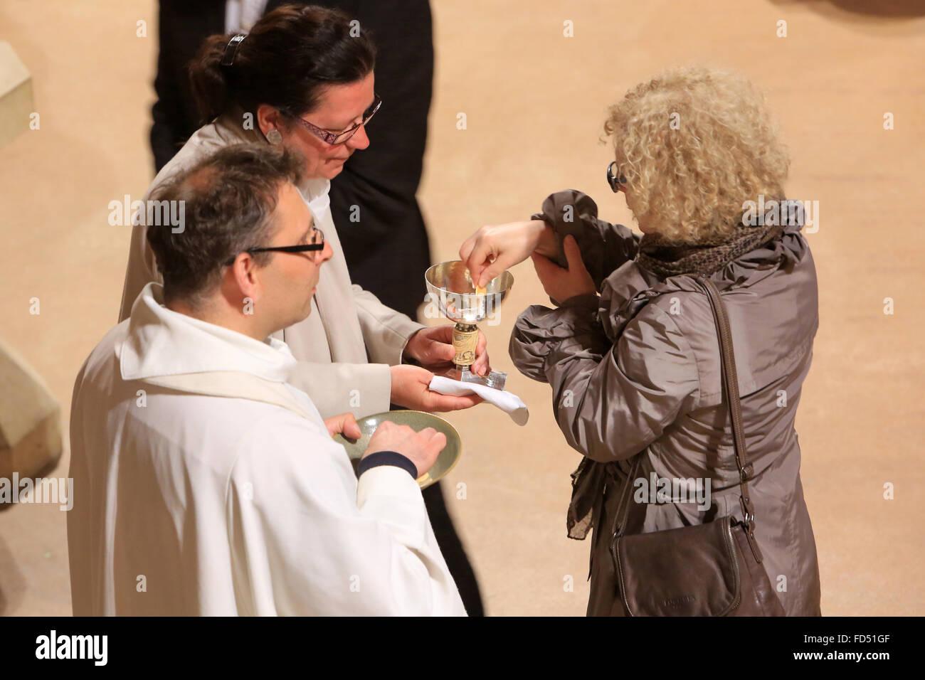 Sainte communion. Photo Stock