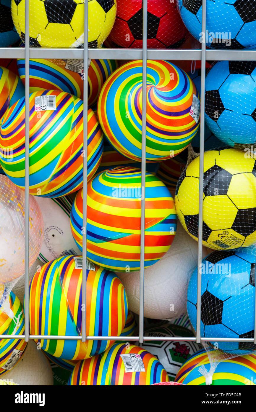 Ballons d'enfants colorés Banque D'Images