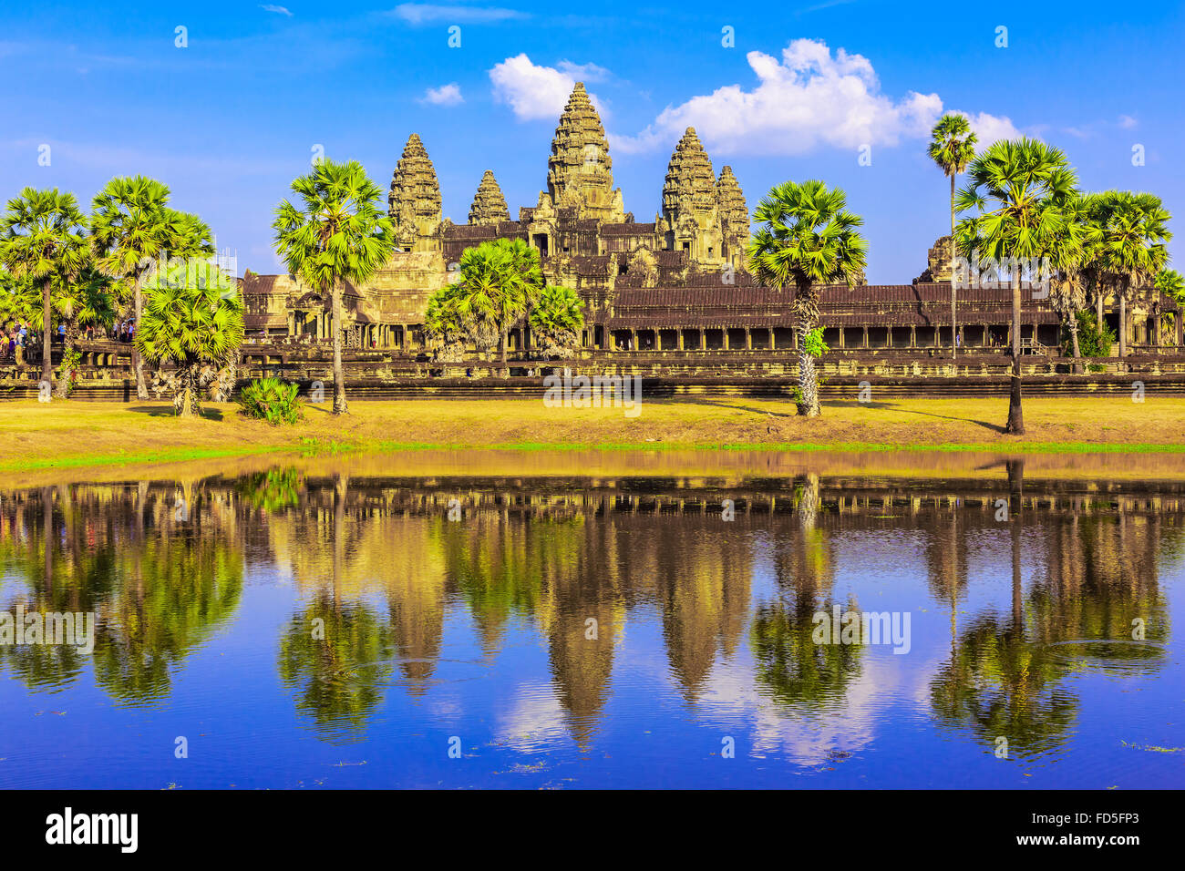 Angkor Wat, Siem Reap. Temple Khmer au Cambodge. Photo Stock