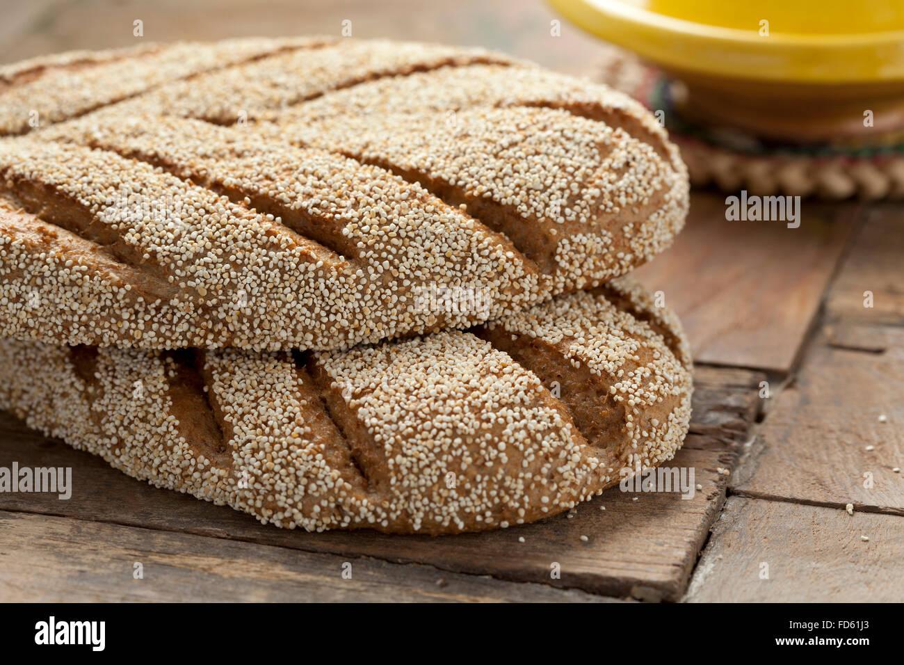 Boulangerie Pâtisserie pain de semoule marocain Photo Stock