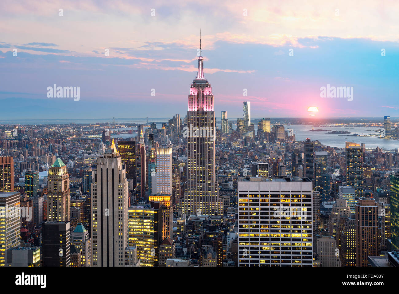 New-York City Skyline avec l'Empire State Building Photo Stock