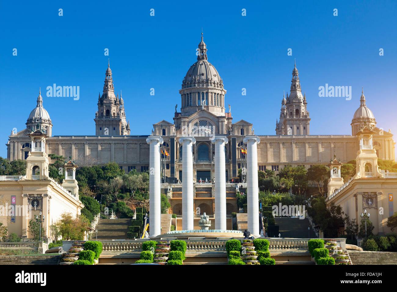 Espagne, Catalogne, Barcelone, Montjuic, le Musée National d'Art de Catalogne (MNAC), le Palais National Photo Stock