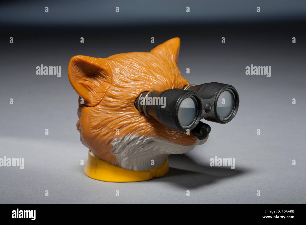 Fantastic Mr Fox toy viewer Photo Stock