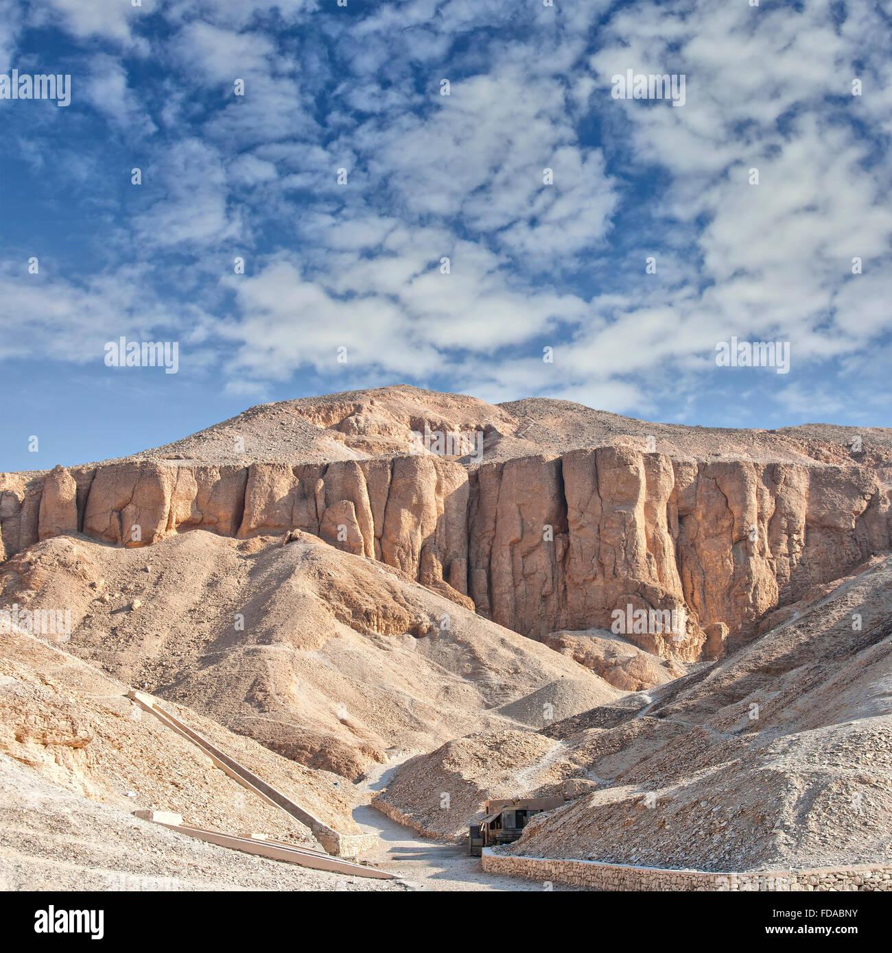 Image de la vallée des rois à Louxor, Égypte. Photo Stock