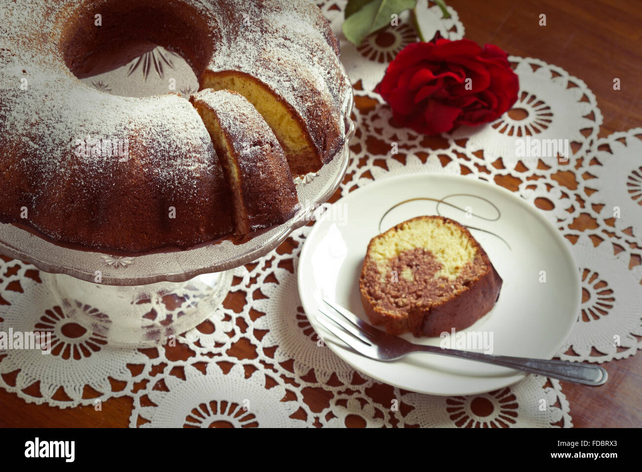 Gâteau traditionnel Photo Stock