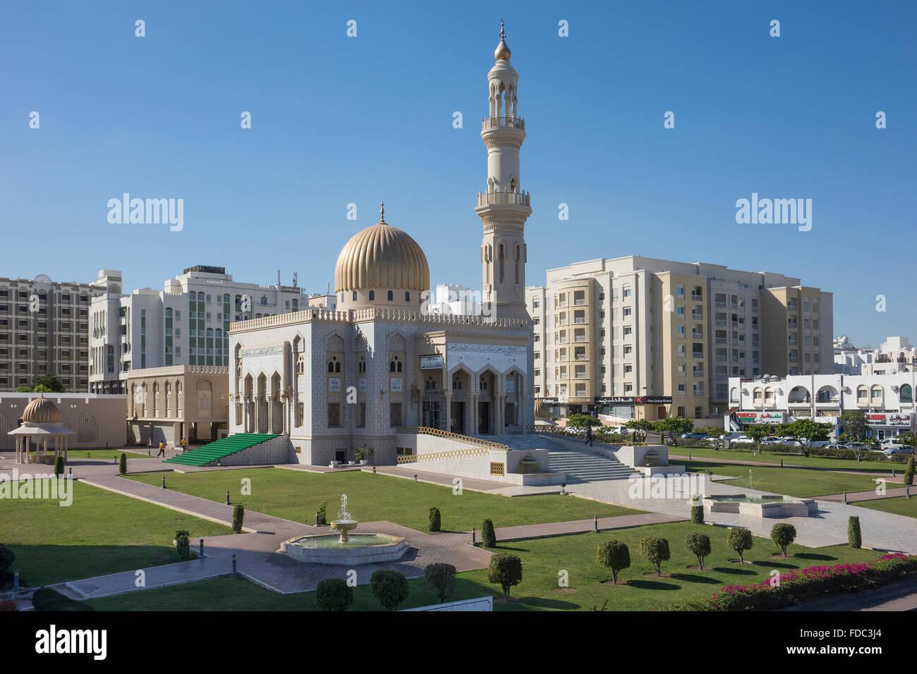 Oman, Muscat, mosquée Zawali Photo Stock