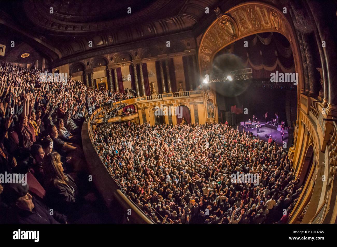 Detroit, Michigan, USA. 29 janvier, 2016. NATHANIEL RATELIFF ET LA NUIT sue le lancement de leur tournée mondiale Photo Stock