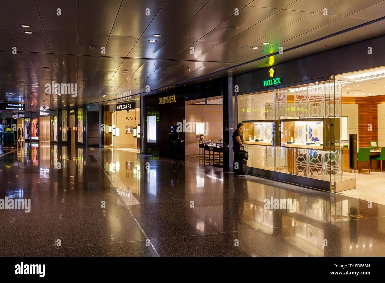 Duty Free, l'Aéroport International Hamad, Doha, Qatar Banque D'Images