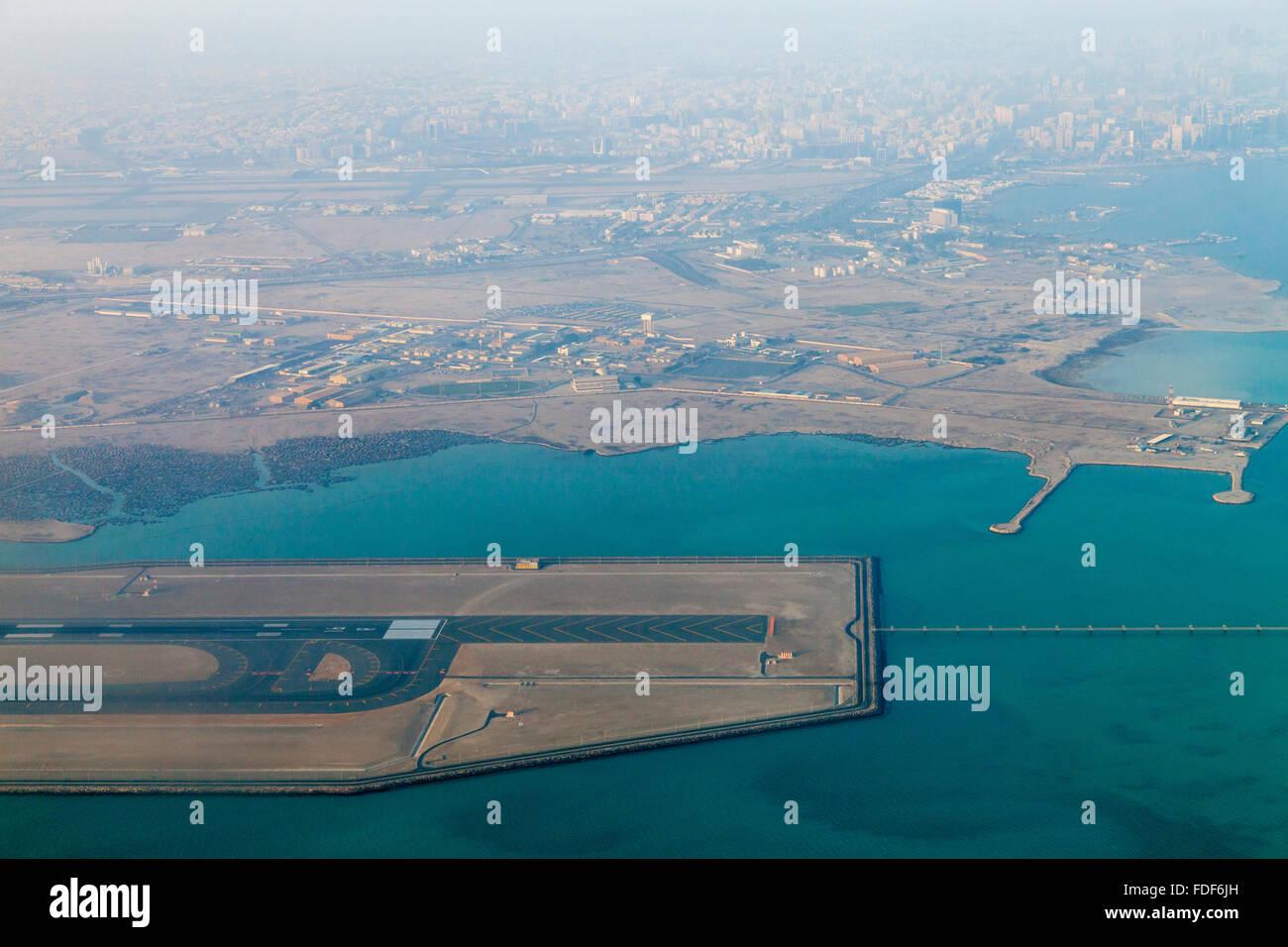 Une vue aérienne de l'Aéroport International Hamad, Doha, Qatar Banque D'Images