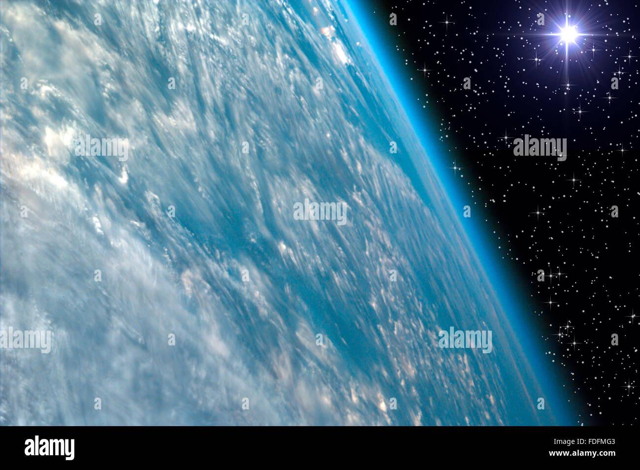 Étoile du soir et de la terre Photo Stock