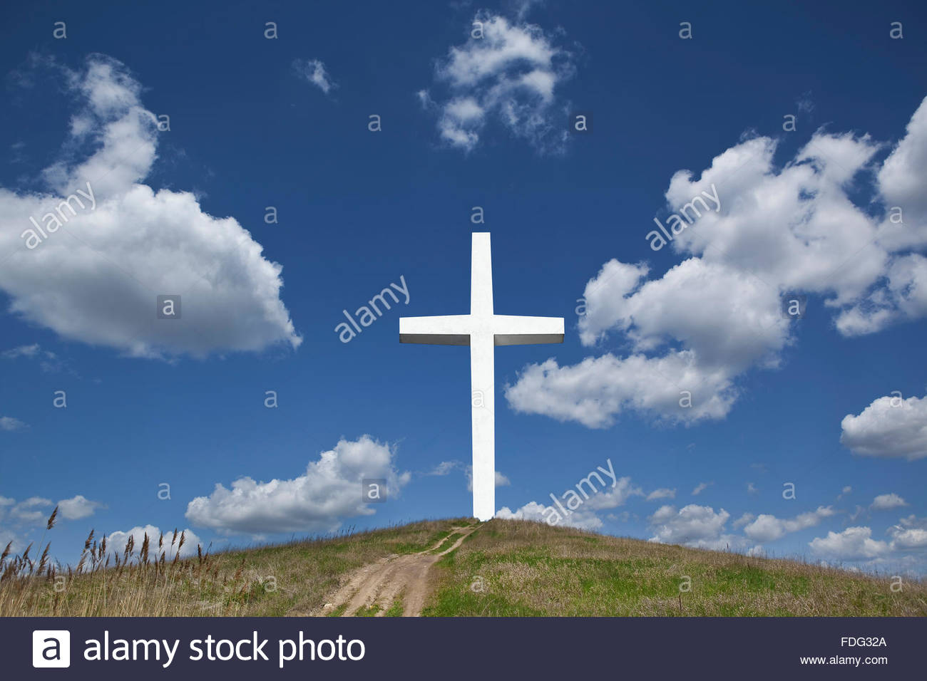 Photo illustration de la religion christianisme foi icône symbole religieux saint ciel heavenwards calvaire Photo Stock