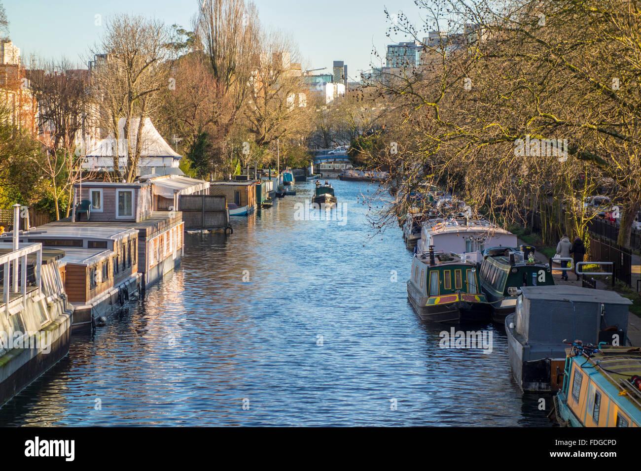 Grand Union Canal, la Petite Venise, Paddington, London, UK Photo Stock