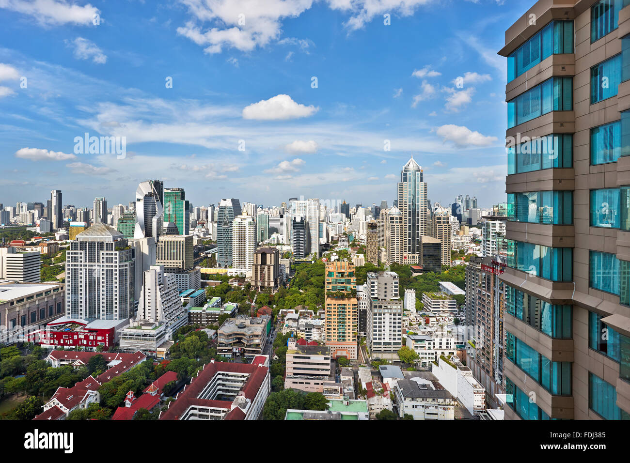 Une vue sur la ville. Bangkok, Thaïlande. Photo Stock