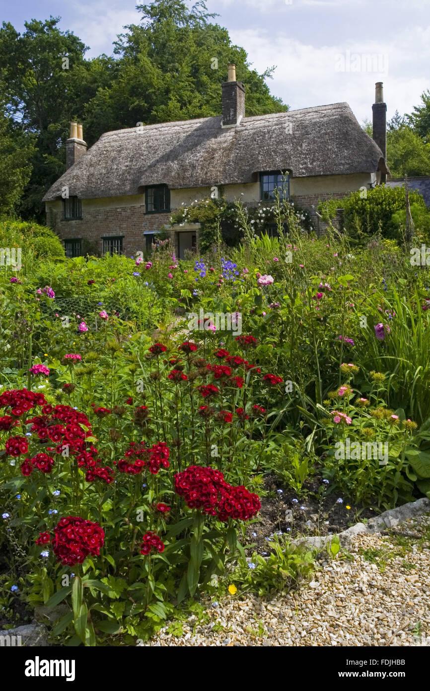 Hardy's Cottage, le lieu de naissance en 1840 de l'écrivain et poète Thomas Hardy , plus à George Sanders, près de Dorchester, Dorset. Banque D'Images