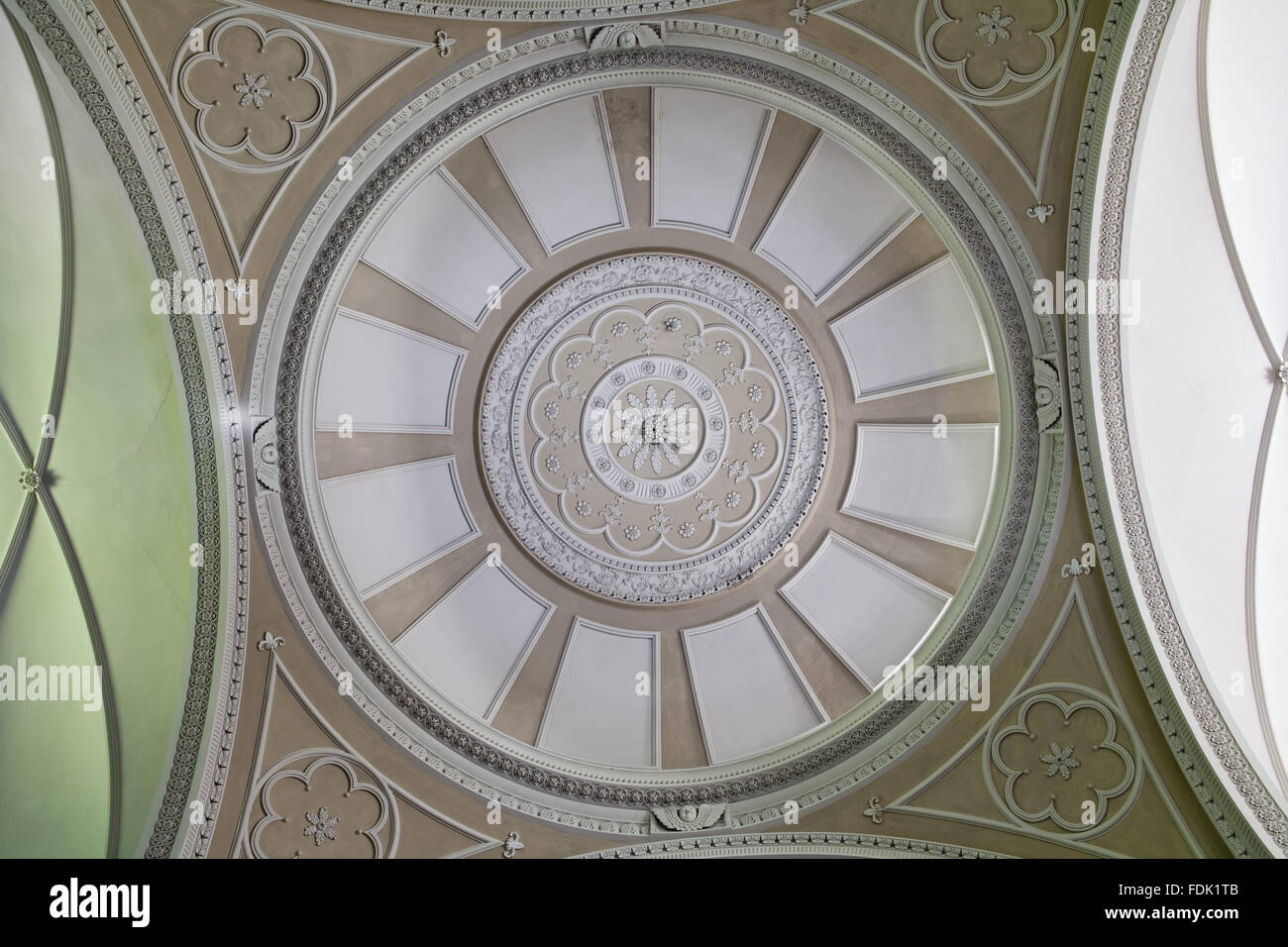 La coupole de la chapelle de Palladio, commencé en 1760 à la conception de James Paine, à The Green Lawns, Newcastle upon Tyne. L'intérieur n'a été achevé qu'en 1812. Banque D'Images
