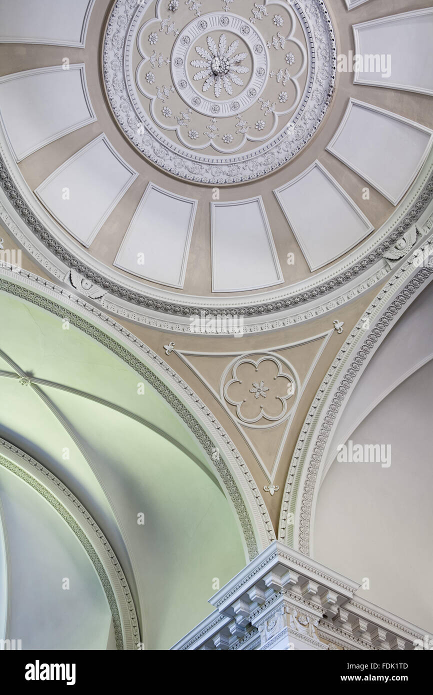 La coupole de la chapelle de Palladio, commencé en 1760 à la conception de James Paine, à The Green Lawns, Newcastle upon Tyne. L'intérieur n'a été achevé qu'en 1816. Banque D'Images