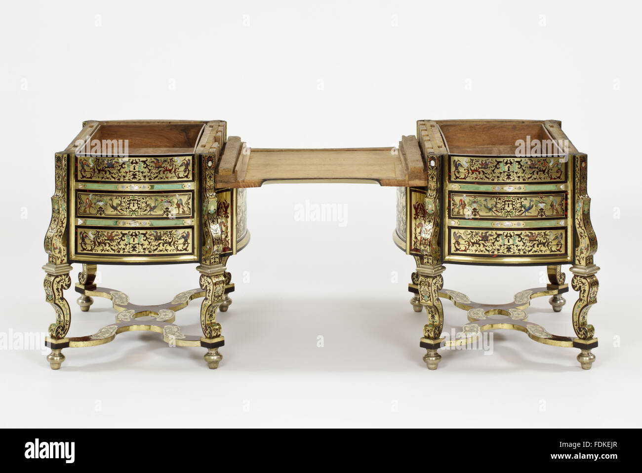 French desk bureau plat in the antique louis xv style ebay
