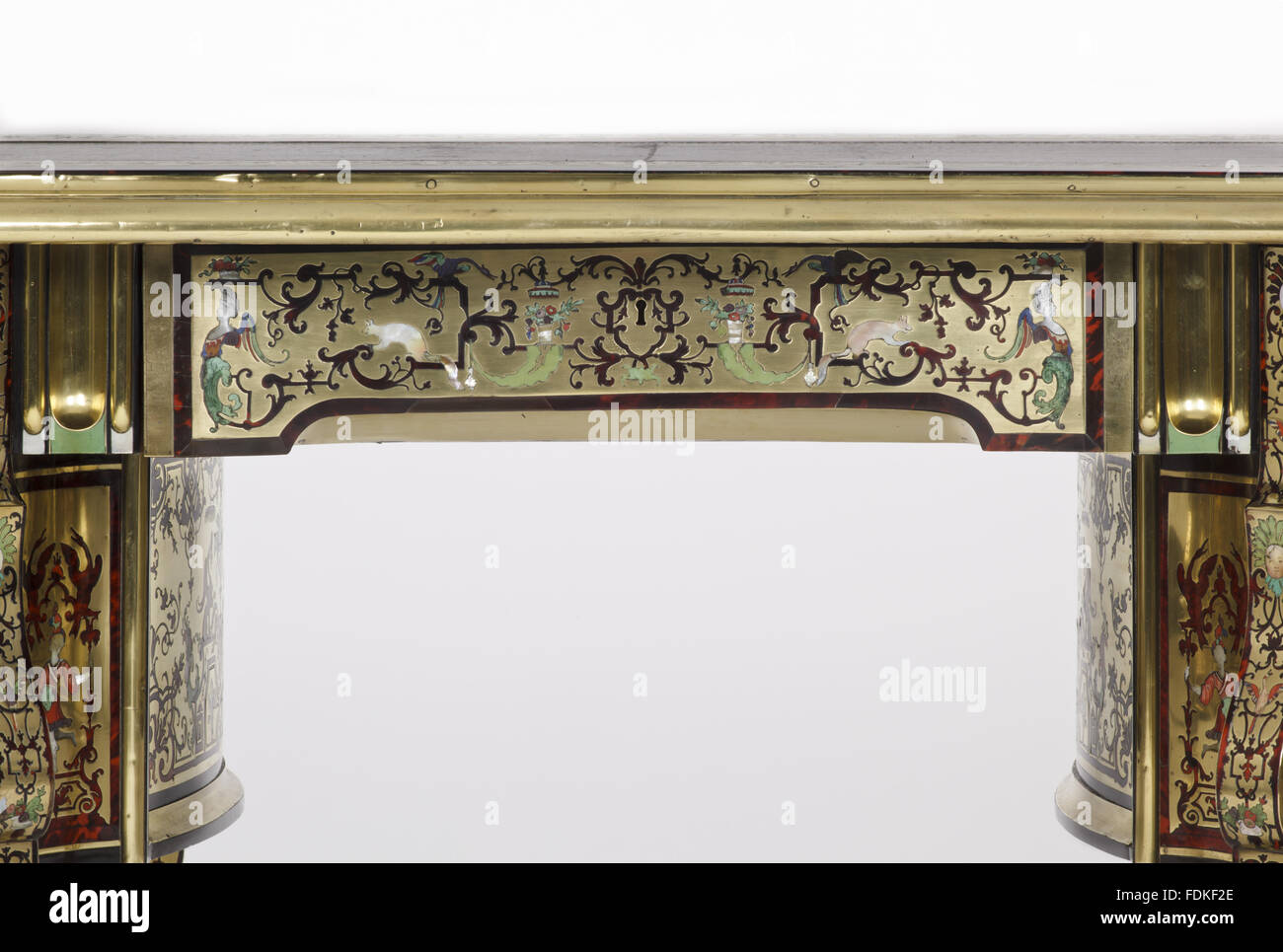 A french louis xv ormolu mounted black vernis martin commode