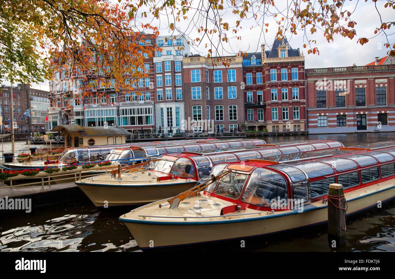 Excursion en bateau,Amsterdam Banque D'Images