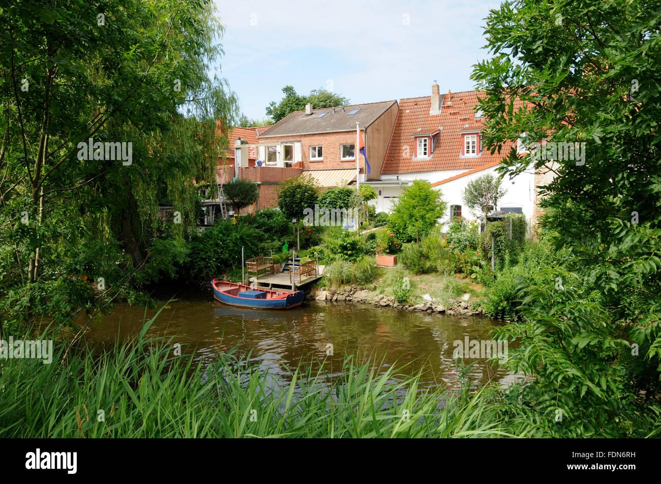 Stream,,mittelburggraben friedrichstadt Banque D'Images