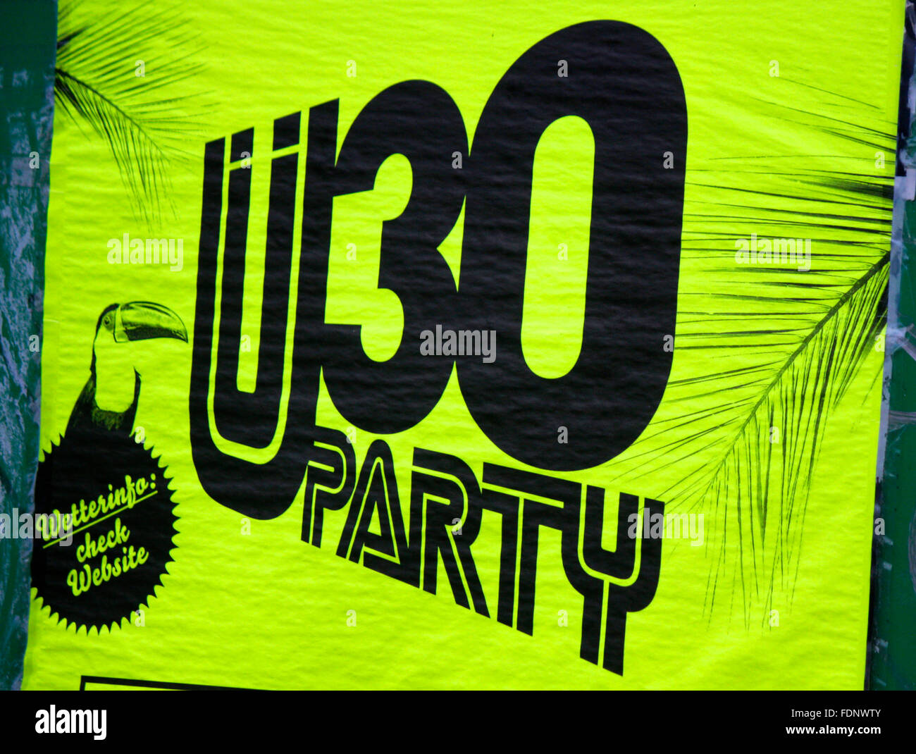 Ue 30 Markenname: 'party', Berlin. Photo Stock