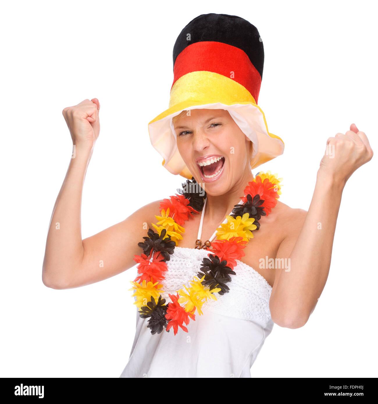 Allemagne,allemand,Culture,Ventilateur fan de foot,German fans Photo Stock