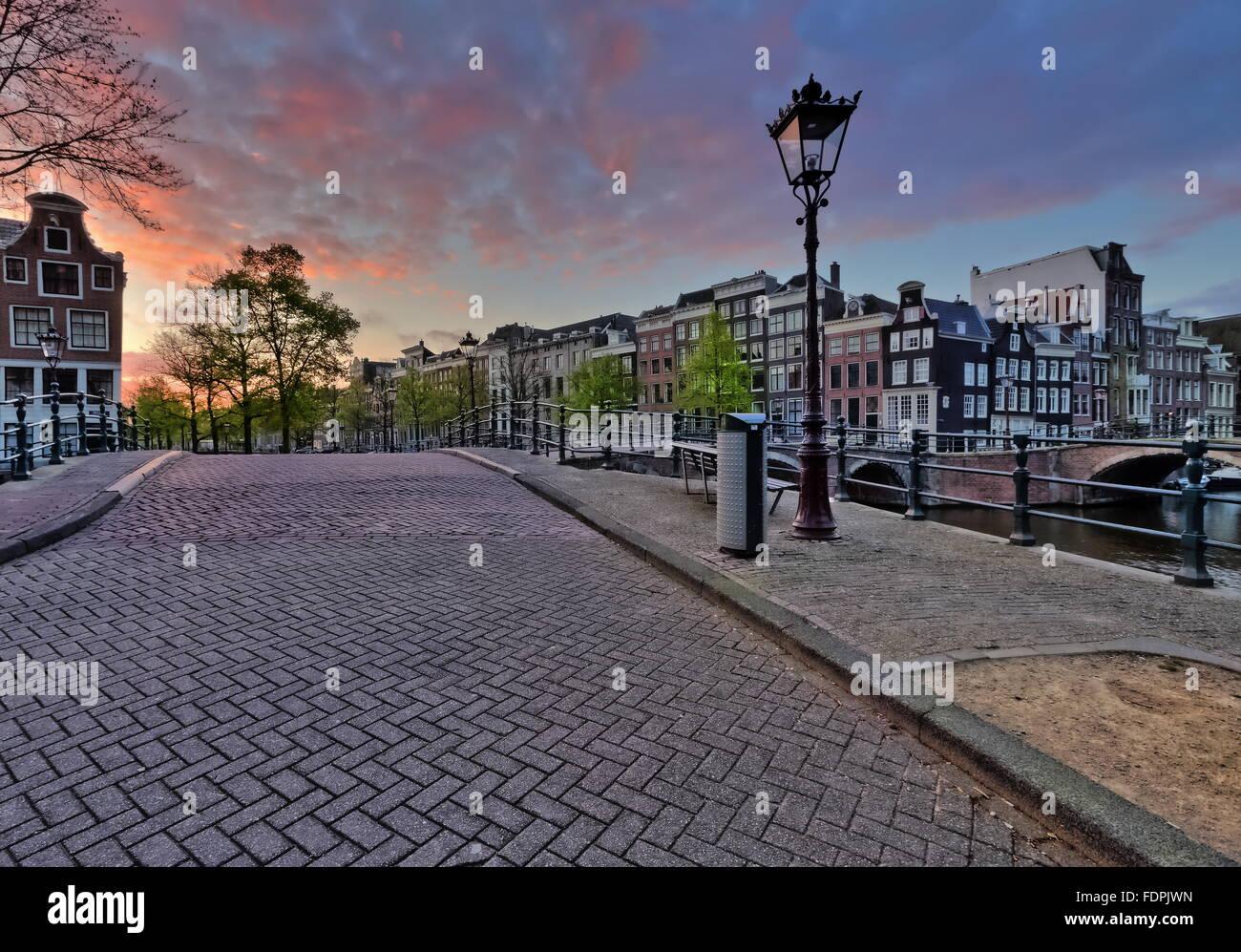 Pont, Amsterdam Banque D'Images