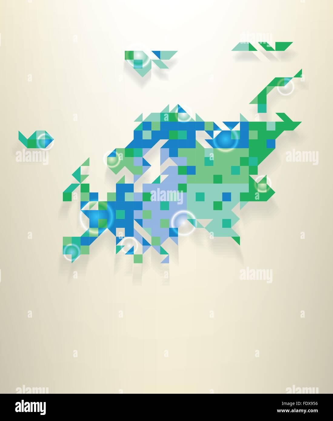 Carte Bleue Transparente.Carte Bleue De L Europe Dont Une Partie De La Russie Avec Blanches
